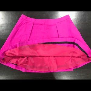 Kate Spade Saturday Hot Pink Pleated Skirt Sz 10